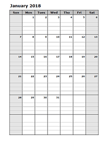 2018 Blank Calendar Templates - Download Free Printable 2018 Blank ...