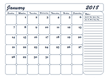 2018 Monthly Appointment Calendar - Free Printable Templates