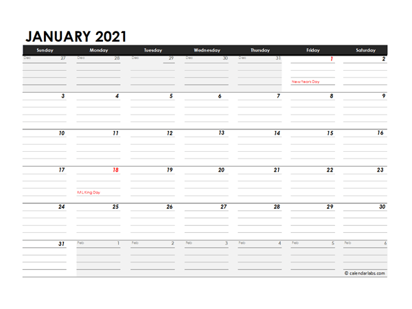Editable 2021 Excel Three Month Calendar - Free Printable ...