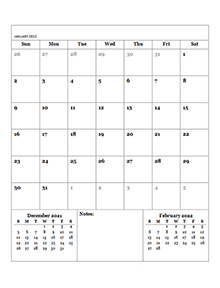 Printable 2022 Blank Calendar Templates - CalendarLabs