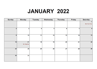 Printable 2022 PDF Calendar Templates - CalendarLabs