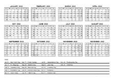 Printable 2022 PDF Calendar Templates - CalendarLabs