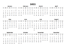 2022 Calendar Templates - Download Printable templates ...