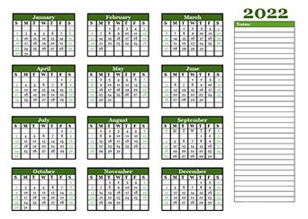 Printable 2022 Blank Calendar Templates - CalendarLabs