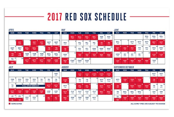 red sox schedule # 21