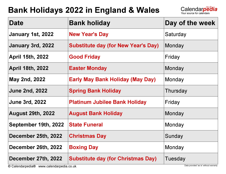 2022 Holidays Observed - Nexta
