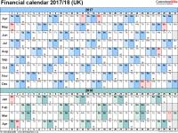 Financial calendars 2017/18 (UK) in Microsoft Word format