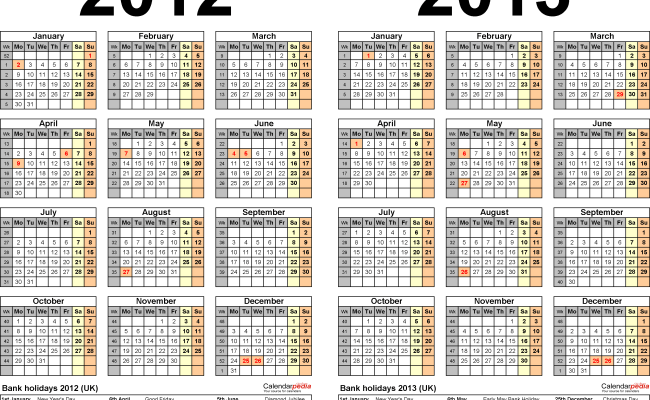 Lubbock Isd Calendar 2022 23.Two Year Calendars For 2012 2013 Uk For Excel Cute766
