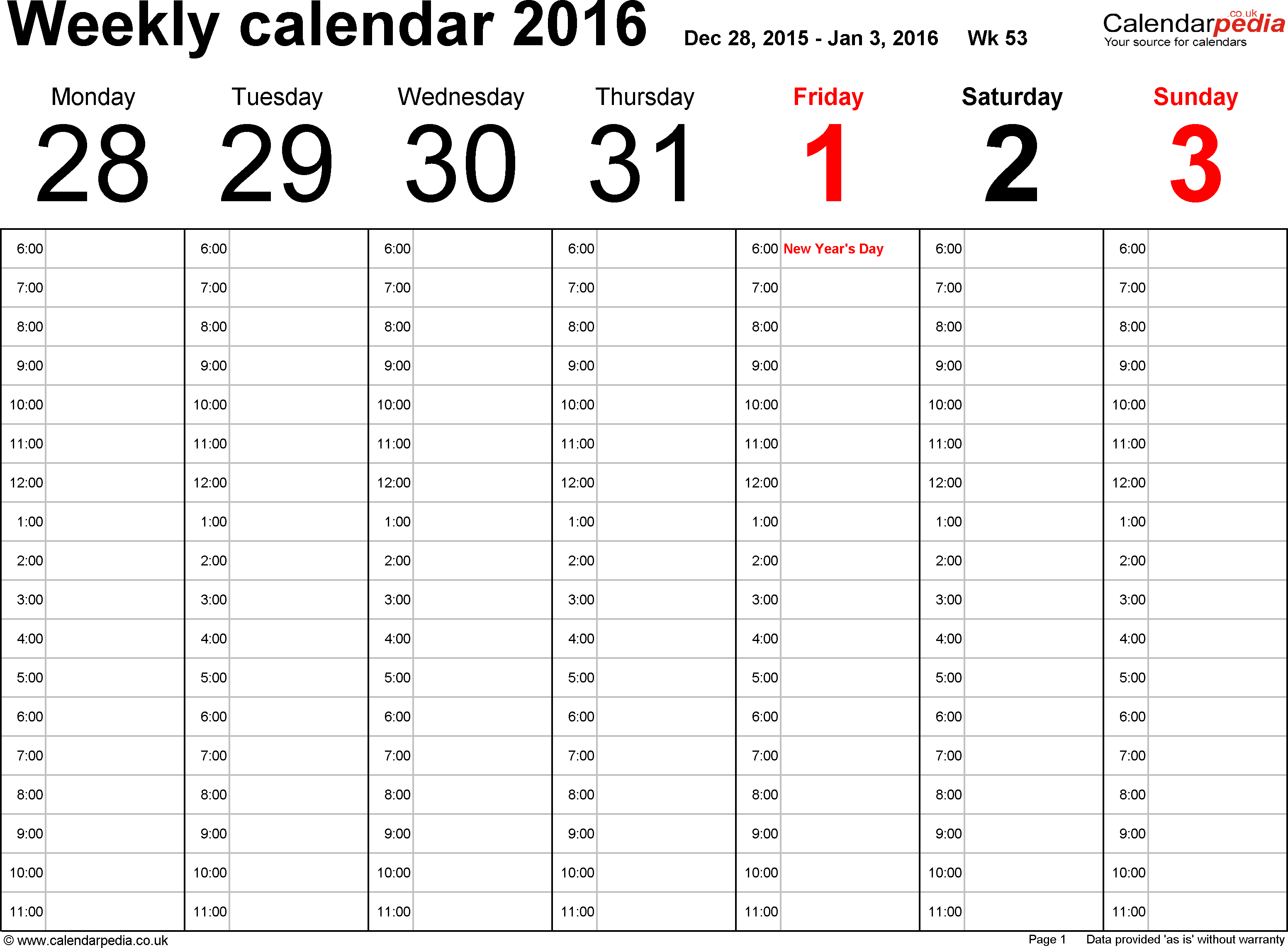 Work Schedule Calendar Template 2015