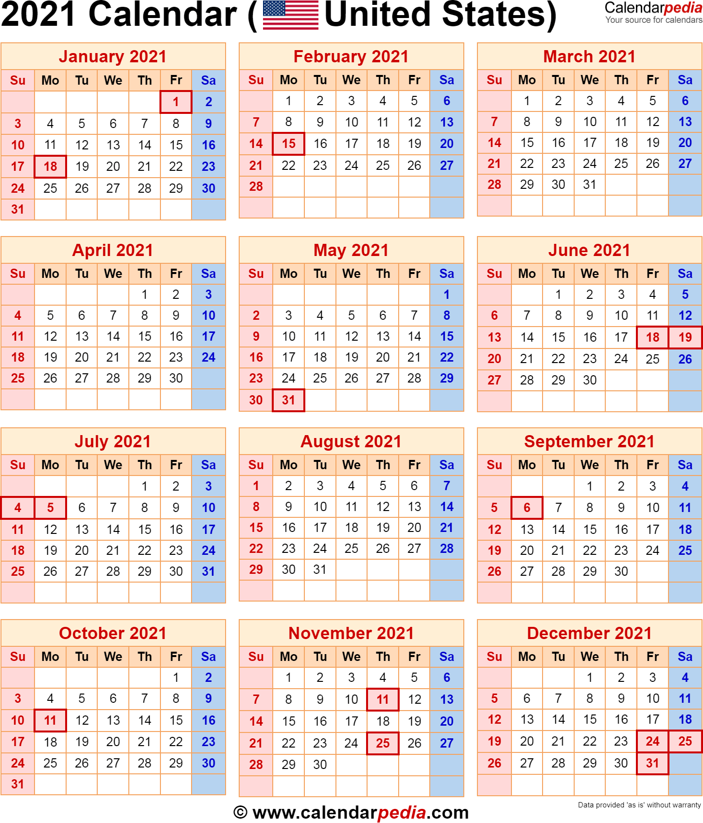 A date is generally the name of a specific, particular day within such a calendar. 2021 Calendar with Federal Holidays