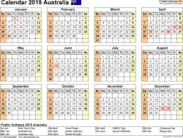 Gre dates 2019 in Australia