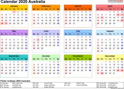 australian academic calendar