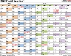 Fiscal Calendars As Free Printable Templates