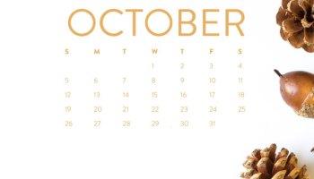 Cute October Wallpapers HD for iPhone Desktop