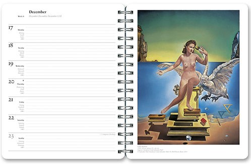 Salvador Dali Weekly Planner and Calendar 2019