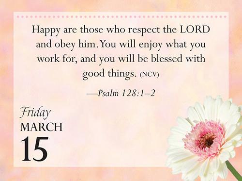 Bible Verse Desk Calendar
