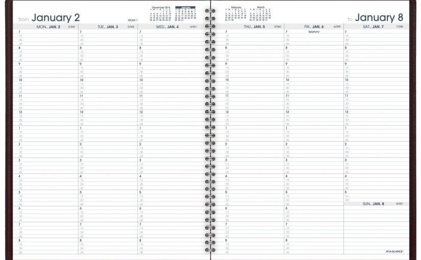 Simple black student planner 2017