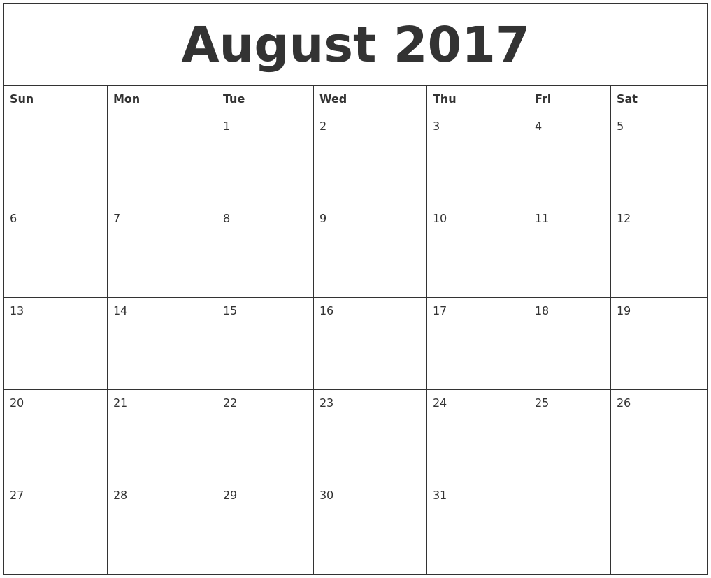 Image Result For Large Calendar Printable