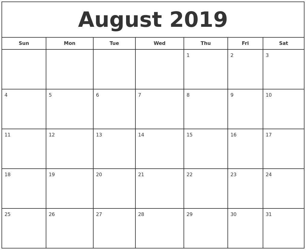 Image Result For Free Monthly Calendar To Print