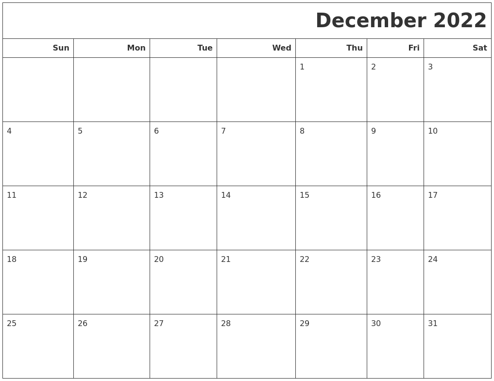 Accurate for all our users in one way for holiday information. December 2022 Calendars To Print