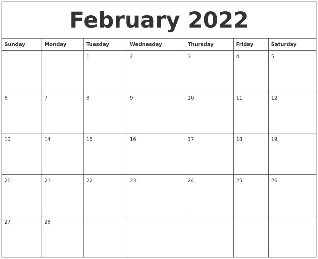 If you want to share yearly printable 2021 calendar then feel free to send with friends on facebook, twitter, instagram, pinterst, reddit & February 2022 Calendar