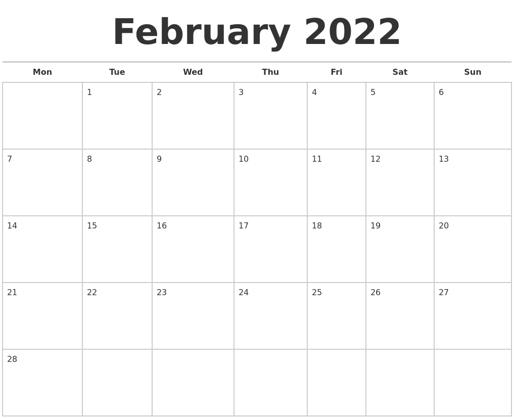 Remembering bill due dates is easy with a system for noting what needs to be paid and whether you've done with these free printable bill calendars. February 2022 Calendars Free