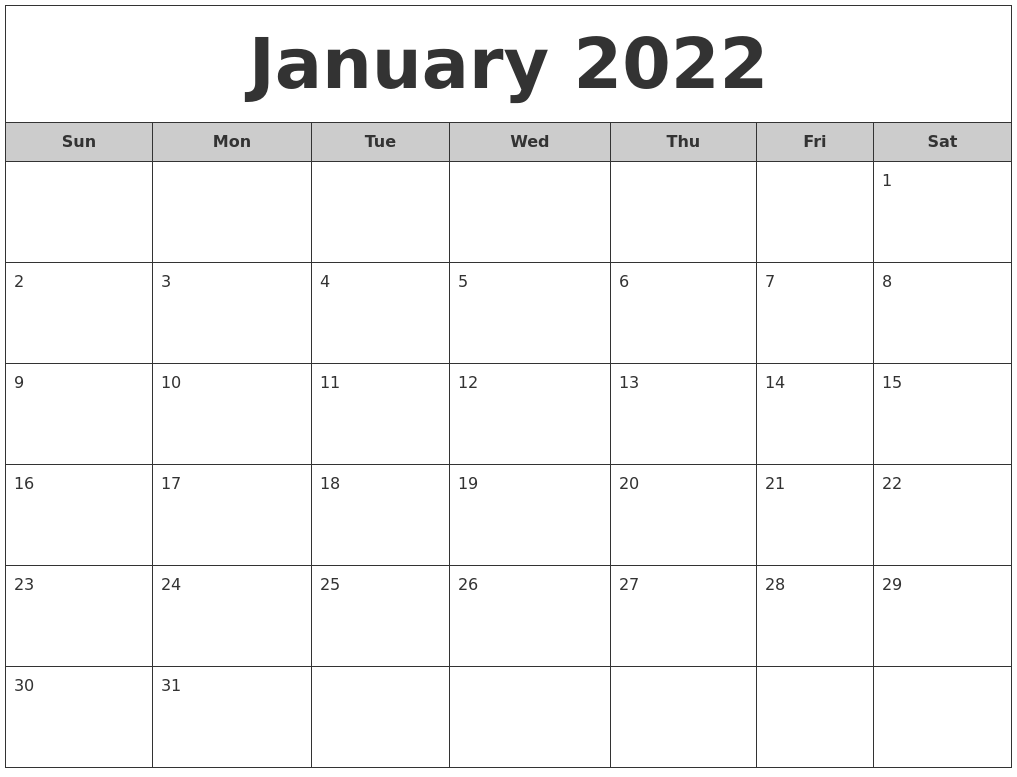 October 2021 Blank Printable Calendar