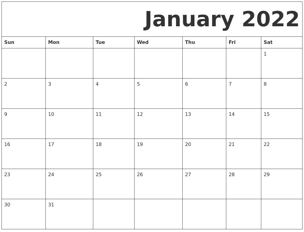 free january 2022 printable calendar blank january 2022 calendar printable january 2022 calendar template. October 2021 Calendar