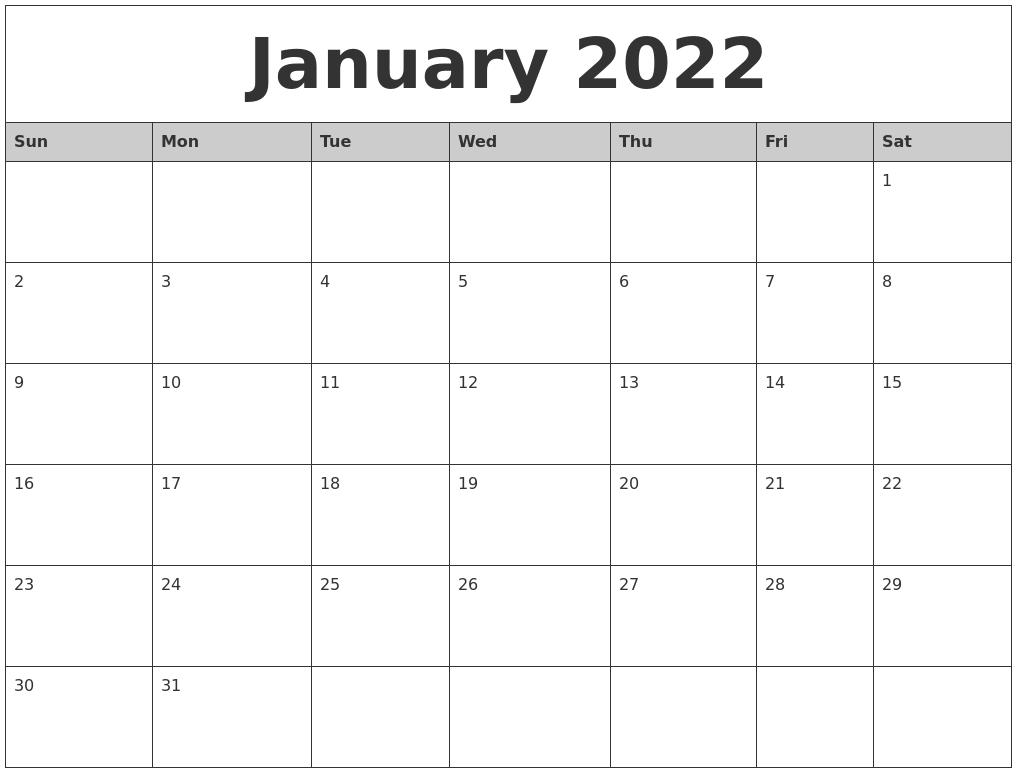 April 2022 Printable Calander