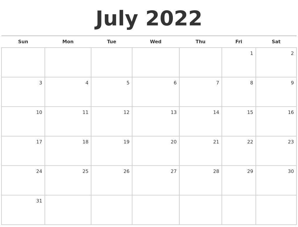 March 2022 Print Free Calendar