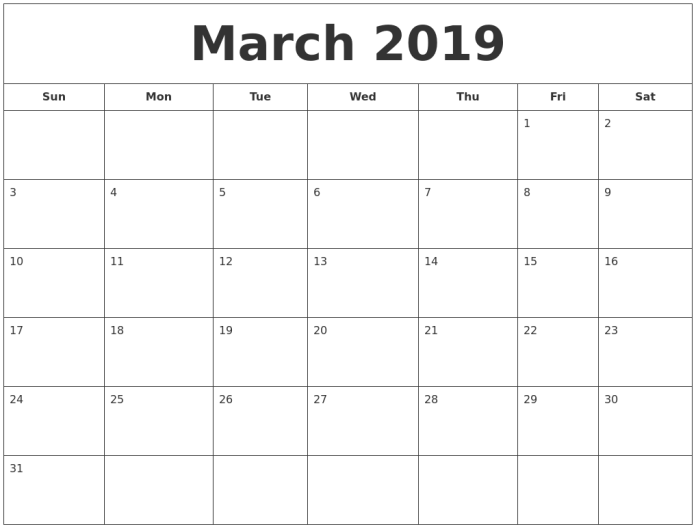 Imagini pentru calendar march 2019 printable