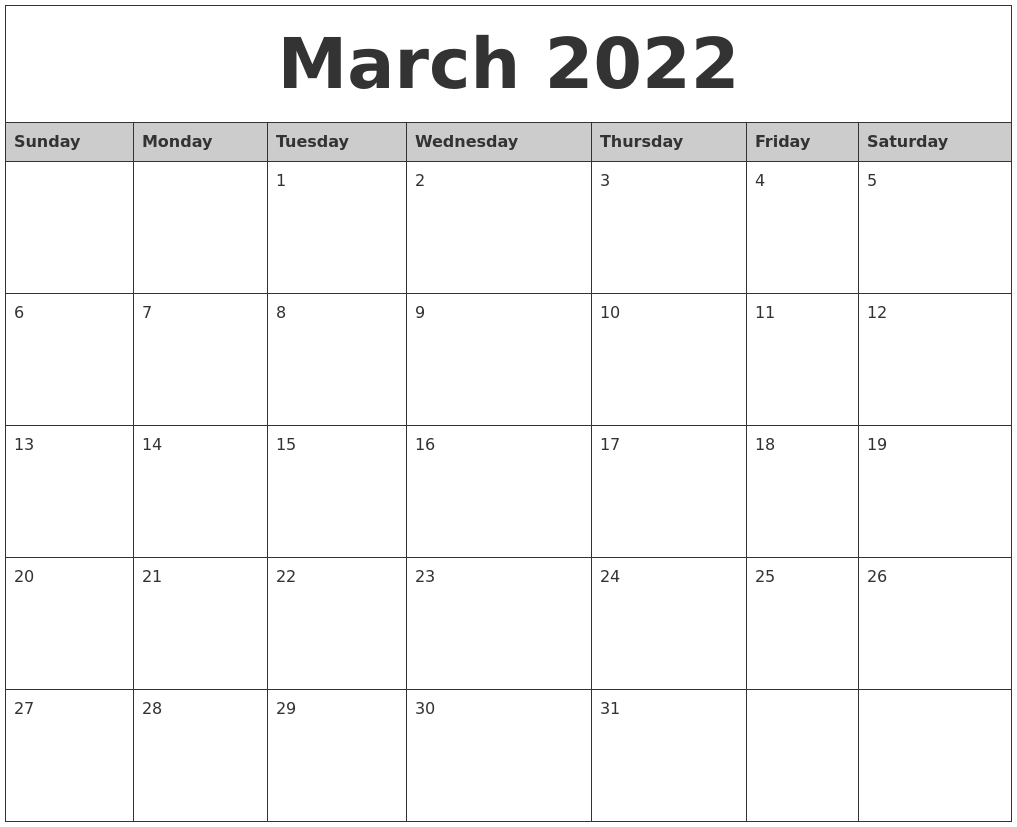It seems like everyone is busier these days, and keeping up with everything from work deadlines to kids' sports practices to your pet's vet appointments can make things complicated — there's a lot to juggle, after all. March 2022 Monthly Calendar Printable