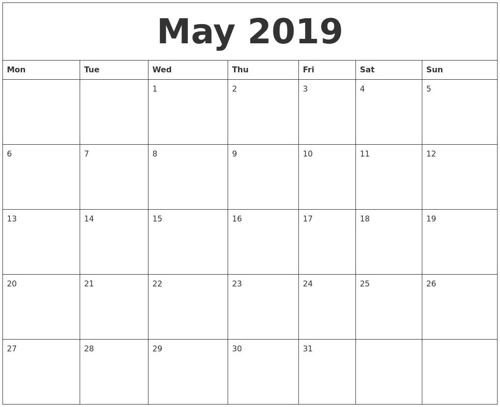 Image Result For Free Printable Blank Calendar
