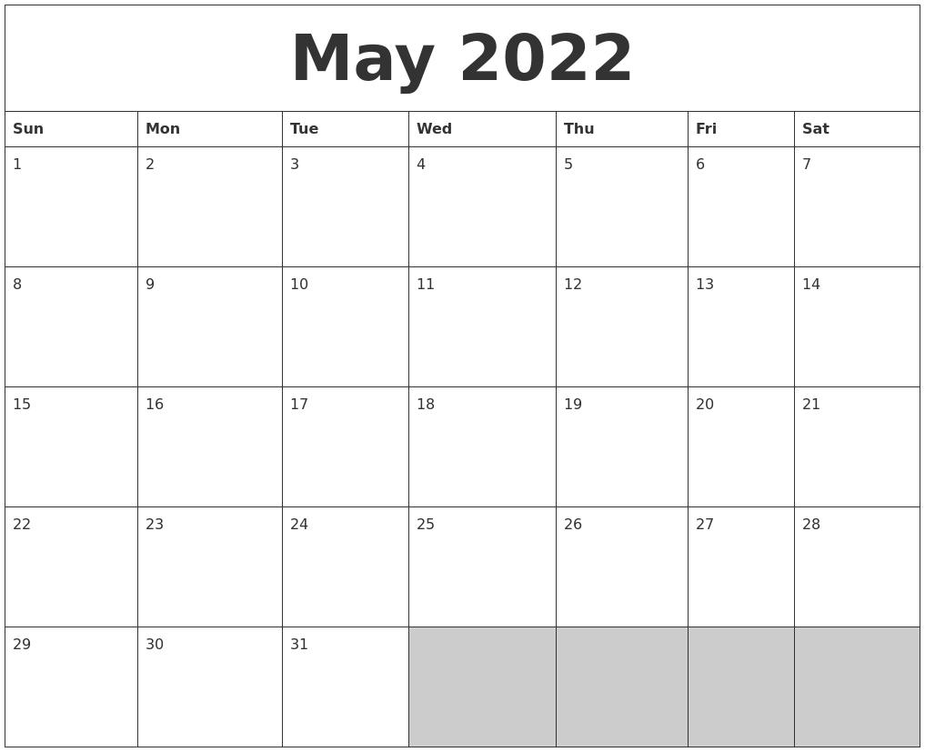 February 2022 Calendars To Print