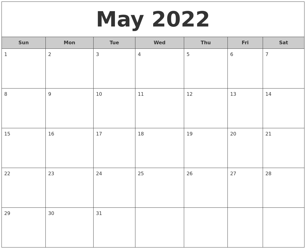 June 2022 Calendar Pages
