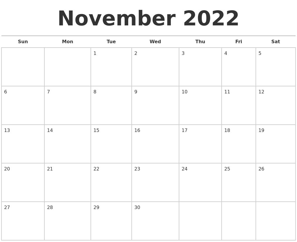 January 2023 Month Calendar