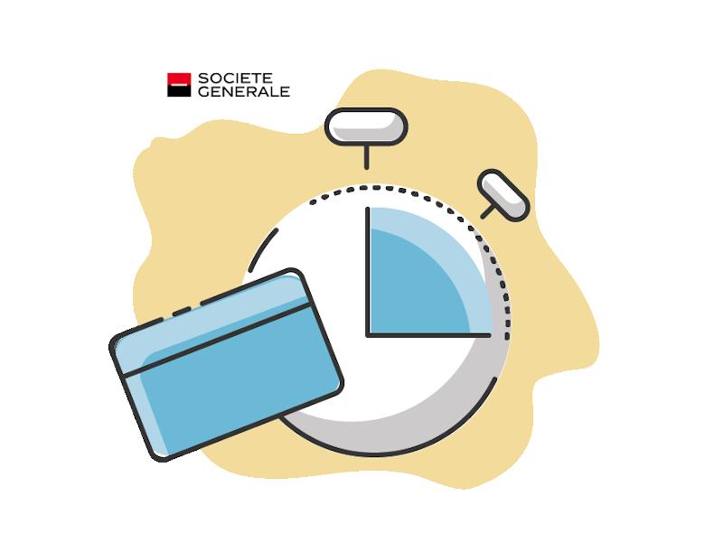 Calendrier carte débit différé Société Générale