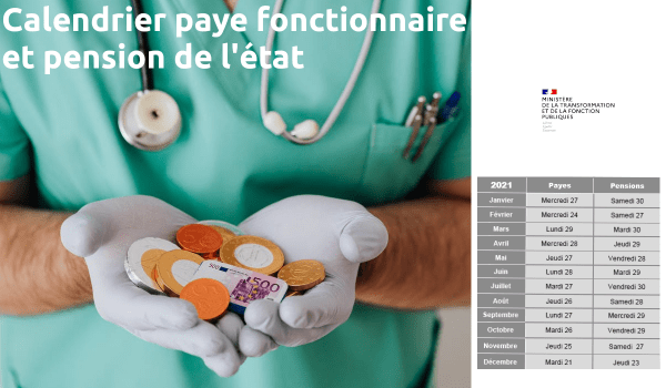 calendrier paye fonctionnaire