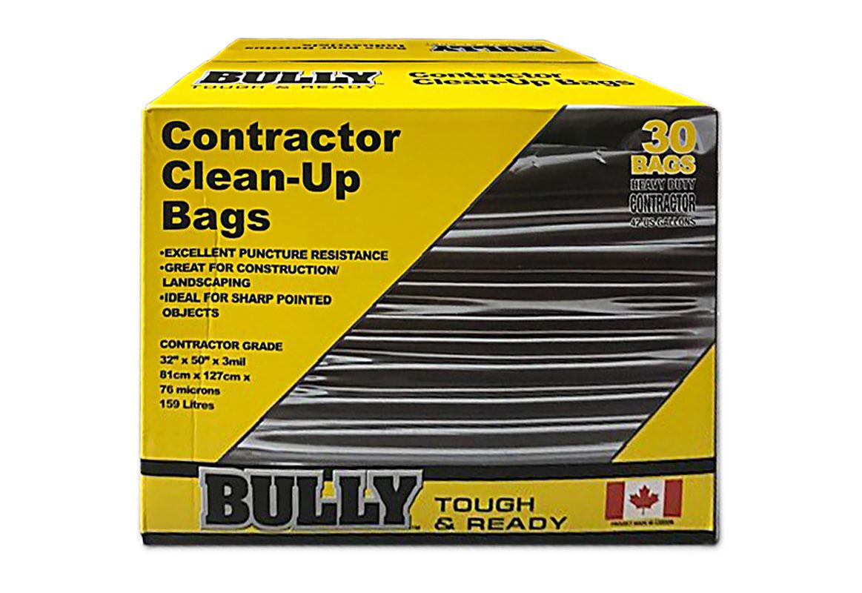 Bully Garbage Bags - Poly - Black / 334072 *BULLY (BOX)