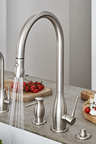 luxury kitchen faucets cabinets martha stewart with matching accessories rosolina