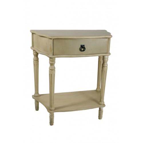 table de chevet ou meuble d appoint avec tiroir blanc patine