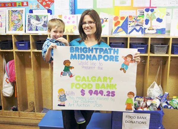 Pretty much the cutest cheque presentation we've ever been to! All the money raised was from the kids' art auction. Thanks Bright Path Day Care for making our day.