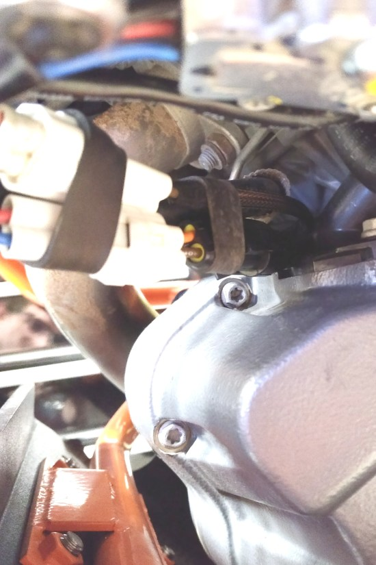 KTM Installed Fuel Line Plug