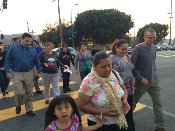 Police and Moms of Cypress Park Walk the Beat To Safety