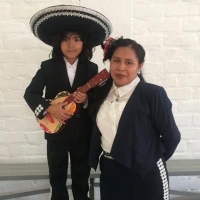Elvira Gomez with son Jose Antonio.