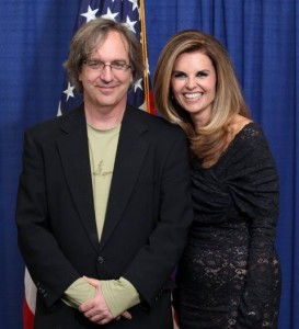 Matt Perry and former California First Lady Maria Shriver.