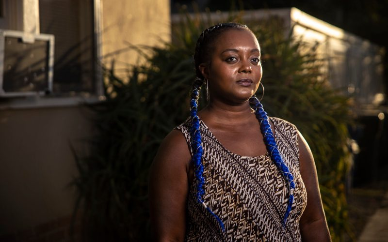 Nakenya Allen outside her home in Martinez, California. Martin do Nascimento / Resolve Magazine
