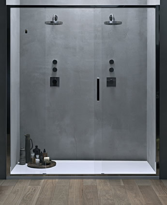 Porta doccia scorrevole centrale in nicchia  Arbatax