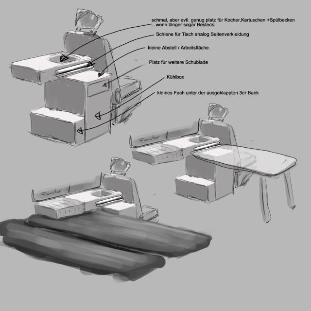 Küchenmodul - Eigenbau Beach 3erBank: Maße? - Seite 2 - Selbstgemachtes -  Caliboard.de - die VW Camper Community