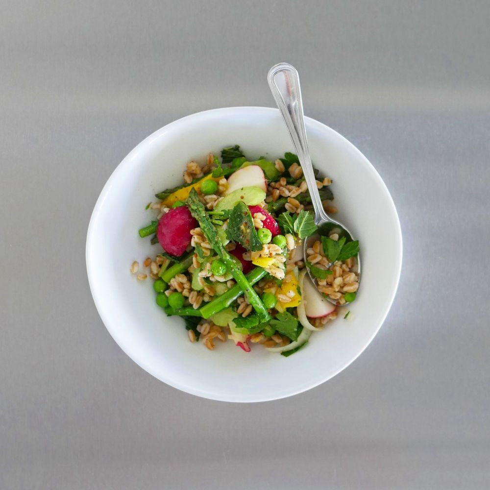 Spring Farro Bowl at Plenty on Bell